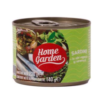 Sardine în ulei vegetal, 212ml