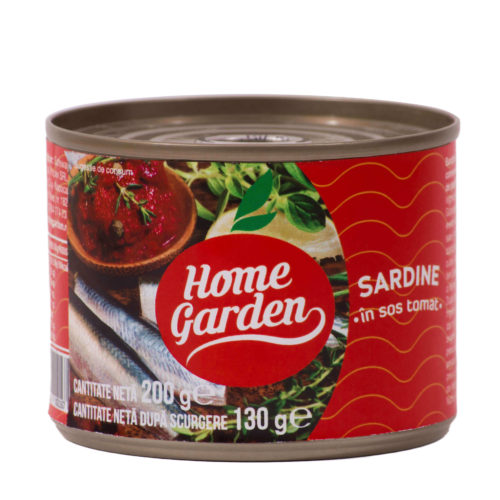 Sardine în sos tomat, 212ml