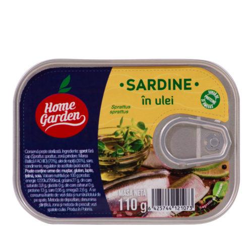 Sardine în ulei, 110g