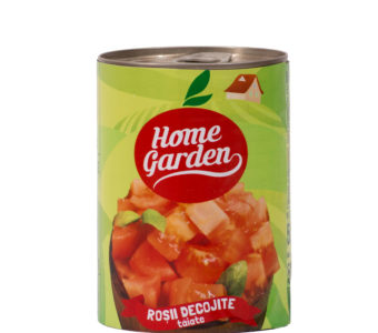 Roșii decojite tăiate, 400g