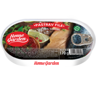 Pastrav File afumat in sos tomat