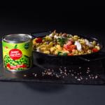 Macrou file în sos tomat cu raviolli