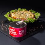Piure de mazăre cu păstrăv în sos tomat