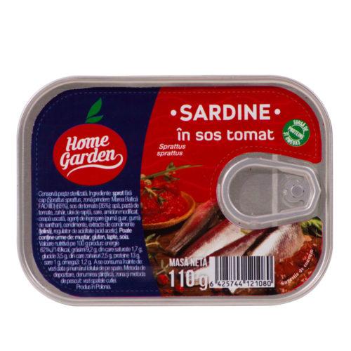 Sardine în sos tomat, 110g