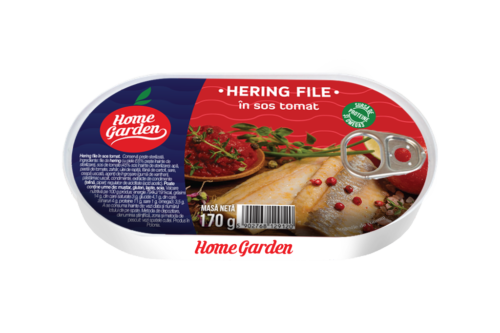 HOME GARDEN Hering file în sos tomat 170g