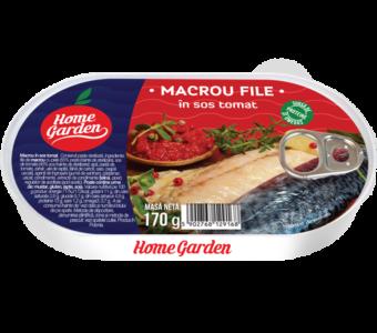 HOME GARDEN Macrou file în sos tomat 170g