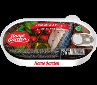 HOME GARDEN Macrou file în ulei cu sos tomat 170g
