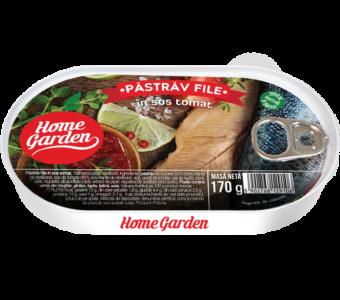 HOME GARDEN Pastrăv file în sos tomat 170g