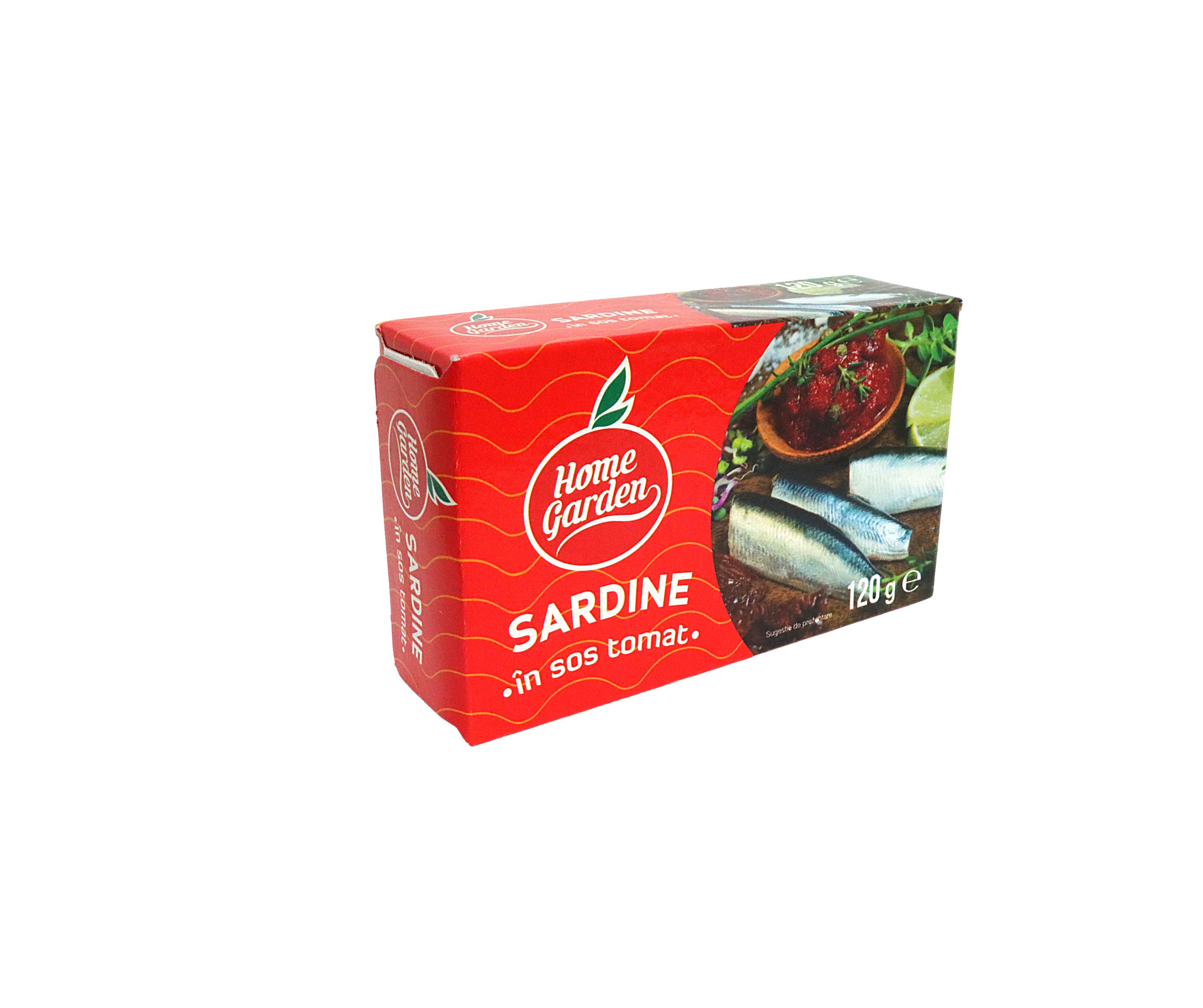 HOME GARDEN Sardine în sos tomat Premium 120g