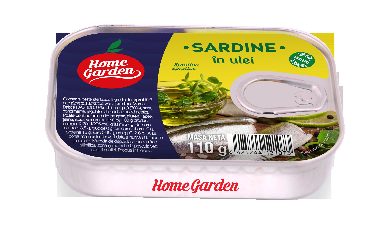 HOME GARDEN Sardine în ulei 110g