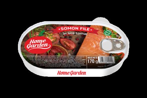 HOME GARDEN Somon file în sos tomat 170g