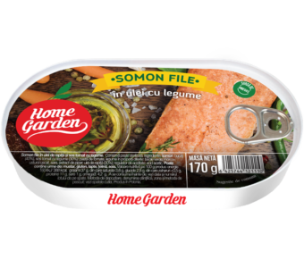 HOME GARDEN Somon în ulei cu legume 170g