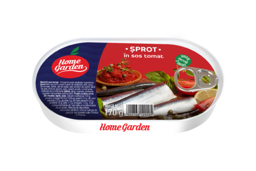 HOME GARDEN Șprot în sos tomat 170g